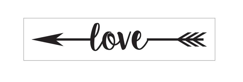 Download Love (with arrow) Vinyl Stencil | DIY Sign making supplies ...
