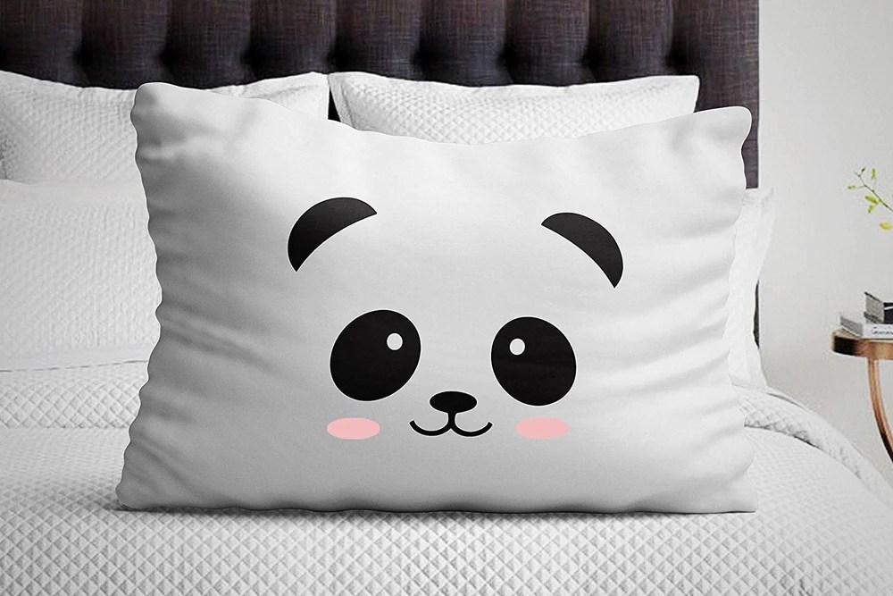 panda pillowcase bedroom decor baby pillow cover
