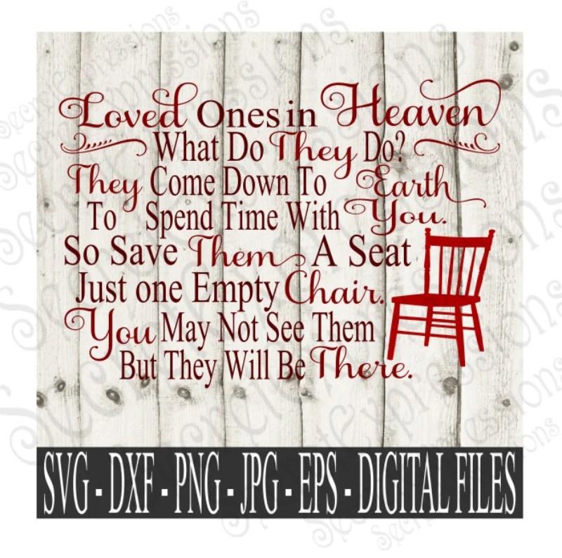 Download Loved ones in Heaven Svg, Digital File, SVG, DXF, EPS, Png ...