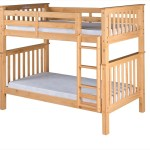 Santa Fe Mission Tall Bunk Bed Twin Over Twin Attached Ladder Natu Hipbeds Com
