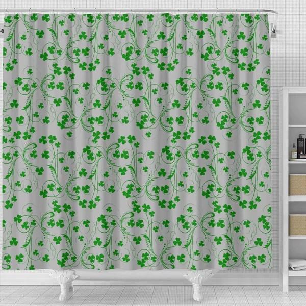 irish shamrock shower curtain eire in