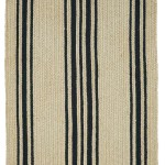 Braided Rug Farmhouse Stripe Natural And Black Homespice Taylor