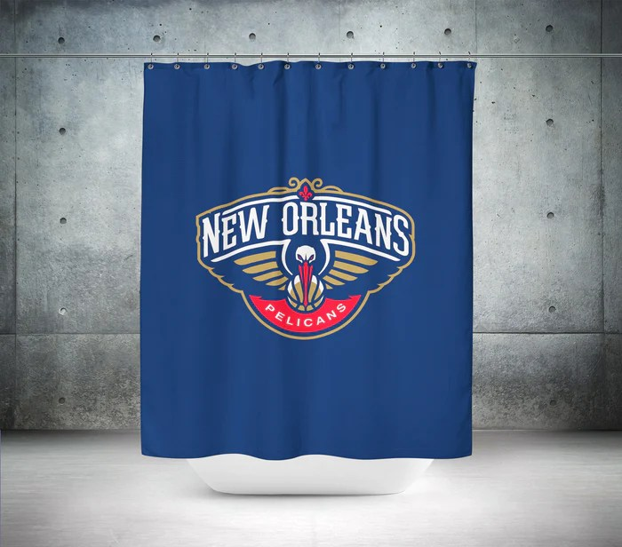 new orleans pelicans nba shower curtain