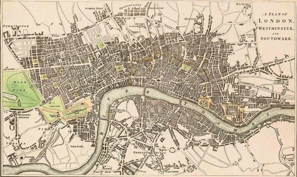 Old Maps of London 1746 by Rocque     The Old London Map Company Old Maps of London 1746 by Rocque