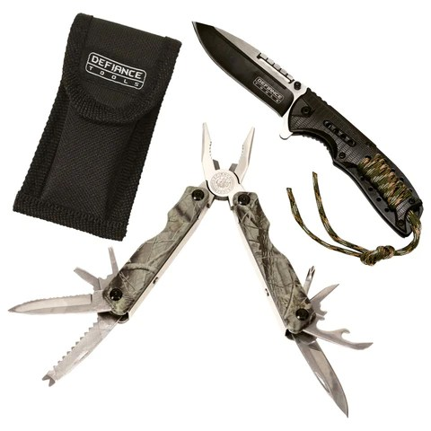 Sportsmen's Knife & CAMO Multi-Tool Combo