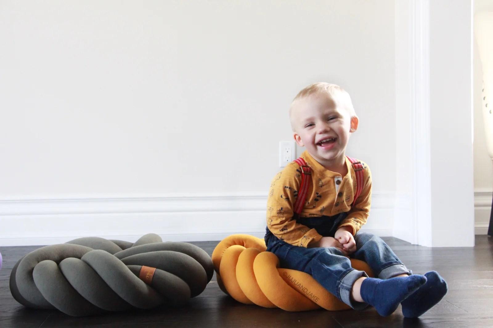 kids floor knot cushions pillows