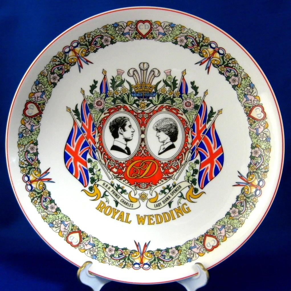 Wedgwood Plate Royal Wedding Charles Diana Ironstone 1981