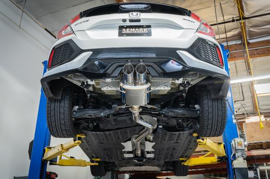 remark catback exhaust system 2017 honda civic hatchback sport fk7