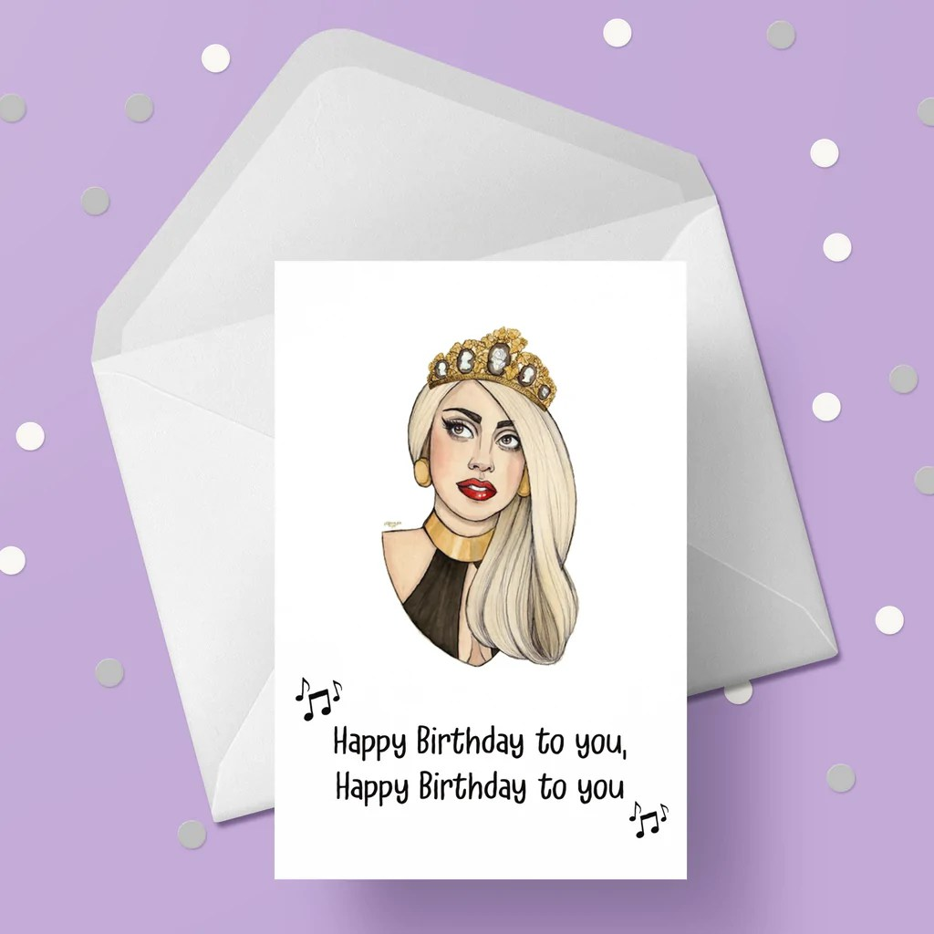Lady Gaga 03 Card The Caker Online