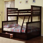 Wood Convertible Twin Full Bunk Bed Espresso Afurniturecompany