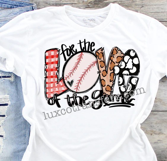 Download For the Love of the Game Baseball Sublimation Transfer ...