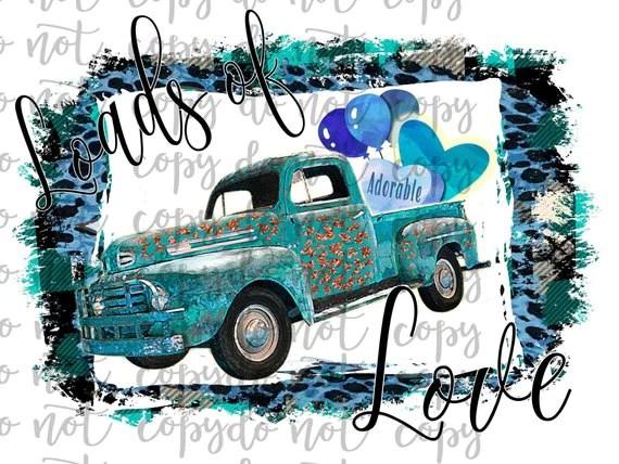 Download Loads of Love Vintage Truck Sublimation Transfer ...