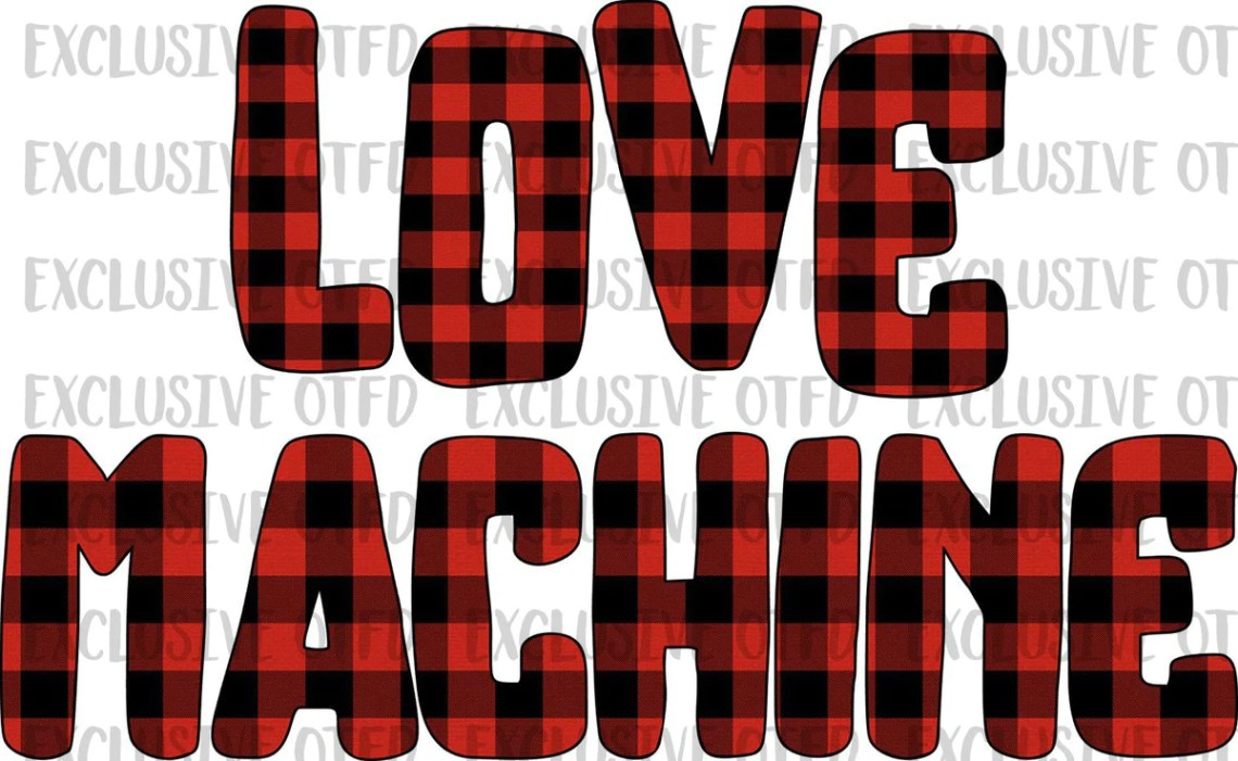 Download Buffalo Plaid Love Machine Valentines Day Sublimation ...