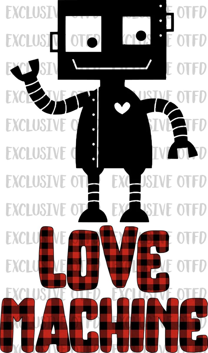 Download Robot Love Machine Valentines Day Sublimation Transfer ...