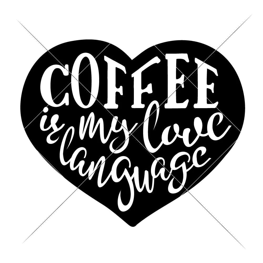 Download Coffee is my love Language svg png dxf eps   Chameleon ...