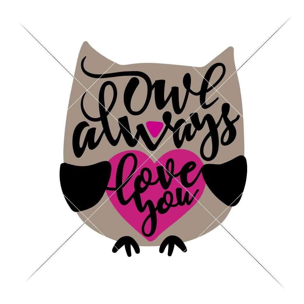 Download Owl always love you svg png dxf eps | Chameleon Cuttables LLC
