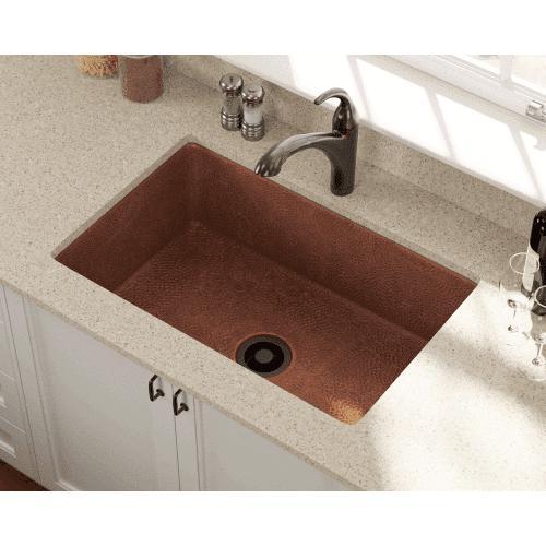33 x 22 undermount copper kitchen sink