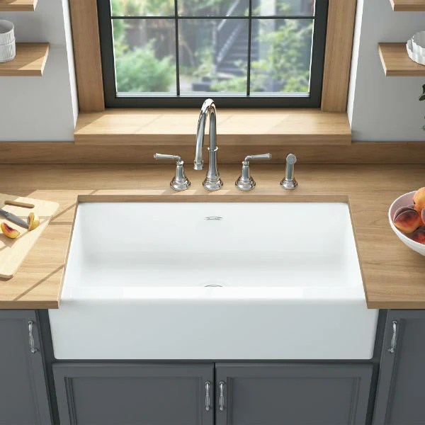 american standard delancey 36 white single bowl cast iron farmhouse sink