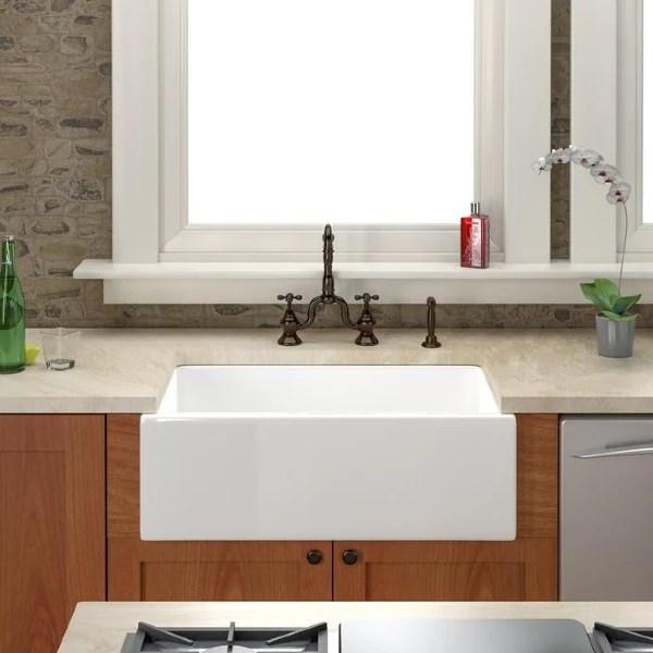 barclay fs30 30 white single bowl fireclay farmhouse sink