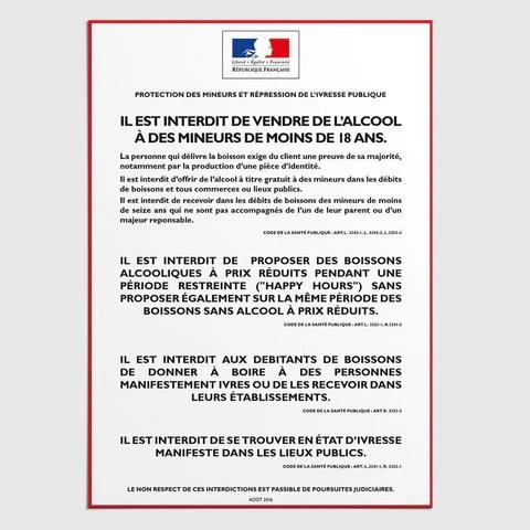 Affichage Obligatoire Bar Debit De Boissons Affichages Panneaux Mca Group C