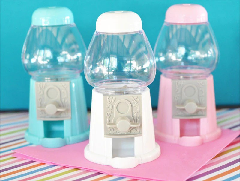 Mini Gumball Candy Machine In Various Colors