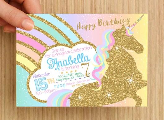 Print Home Birthday Party Invitations