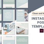 Clean And Minimal Instagram Post Templates Indesign Hunt Family Design