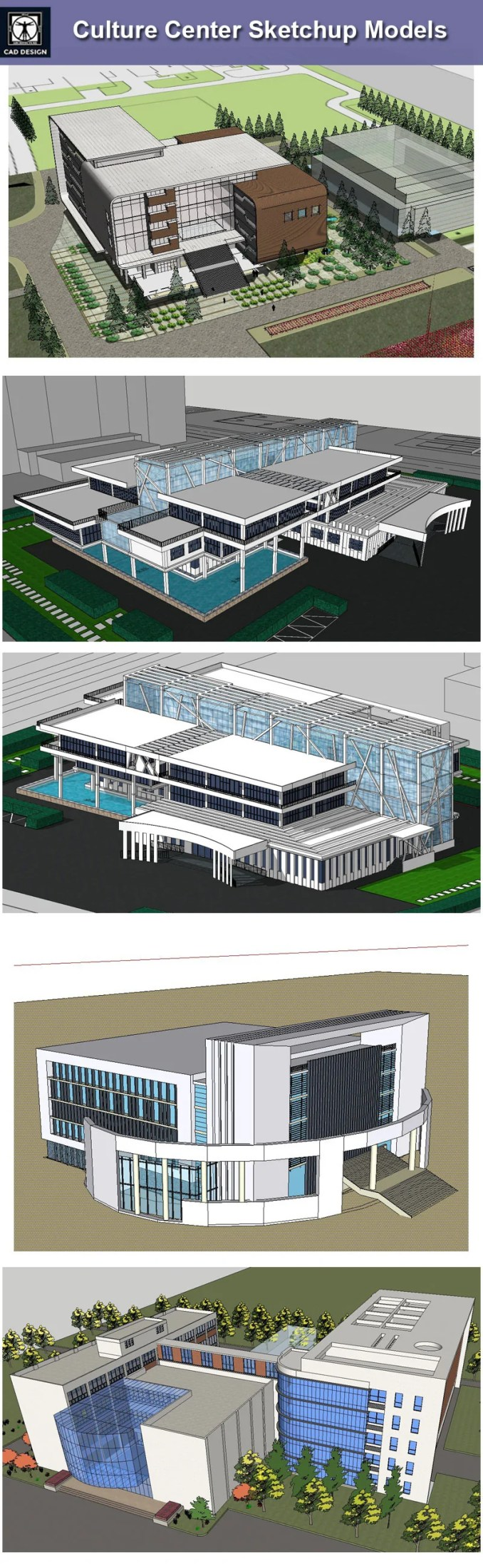 Download 15 Culture Center Sketchup Models】 (Recommanded!!) – Free