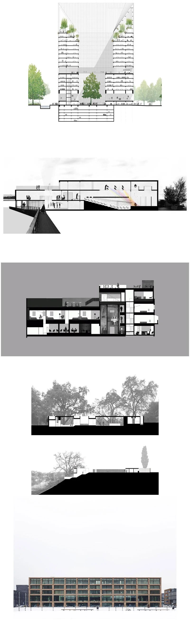 Architectural sections and elevations Gallery V.1
