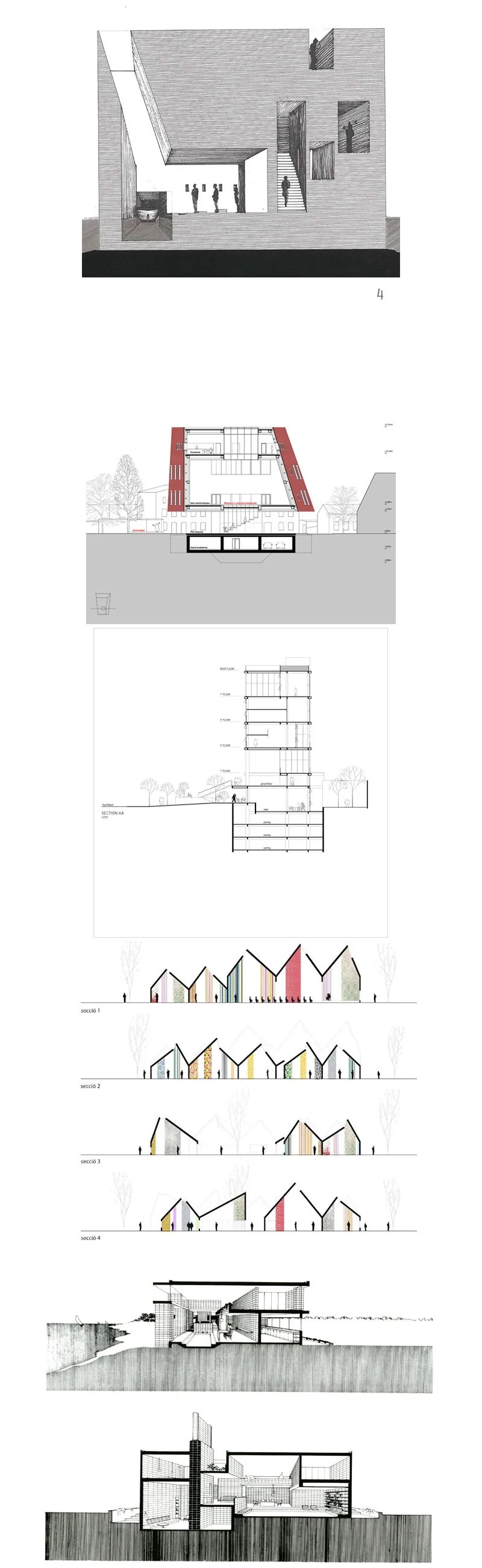 Architectural sections and elevations Gallery V.3