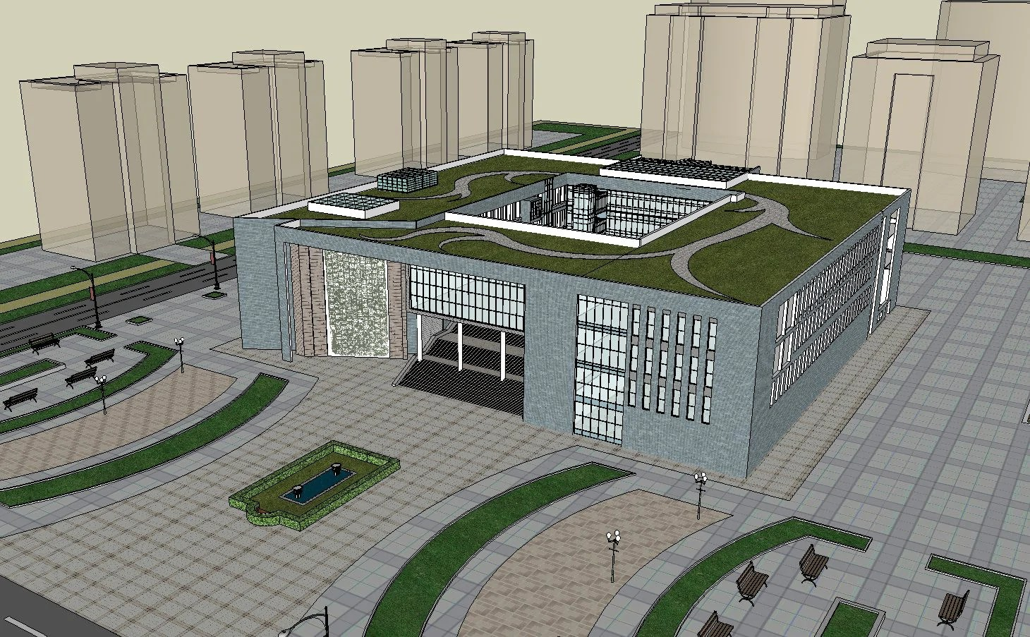 Download 15 Library Sketchup 3D Models(*.skp file format).