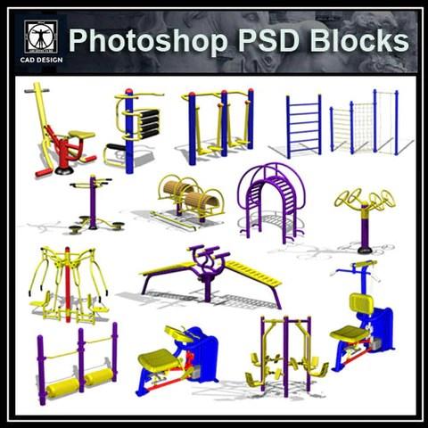 Children's Play Equipment PSD Blocks