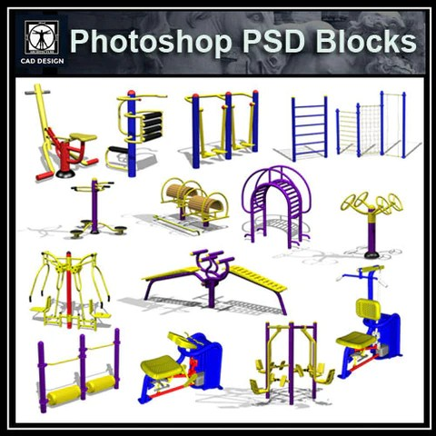 Children's Play Equipment PSD Blocks