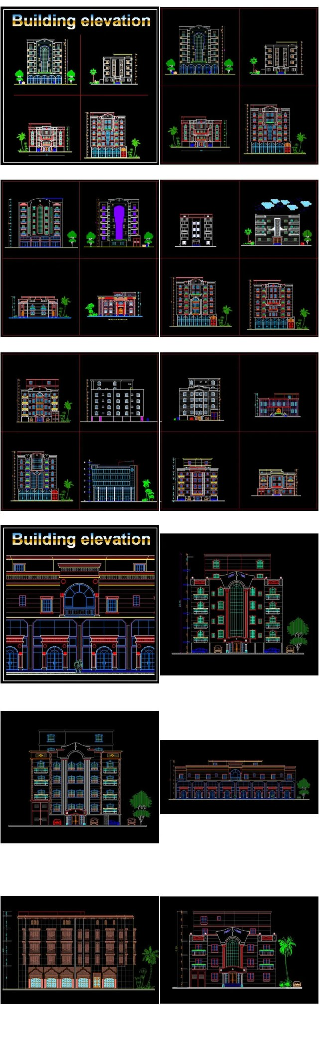 【All Building Elevation CAD Drawing Collections】(Best Collections!!)