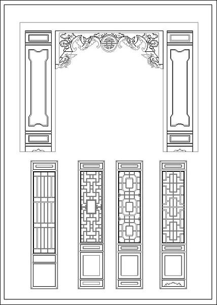 Chinese Window Lattice Drawing CAD Design Free CAD
