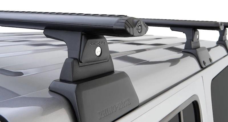 rhino rack vortex cross bars backbone rack system kit jeep wrangler jl 18 20 4dr hardtop 3 base