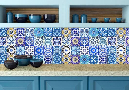 kitchen design diy 24 tile stickers mexican talavera style splashback stickers mixed for walls kitchen decals bathroom stair decals sb14