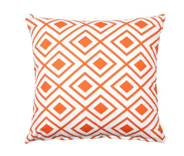 Lotzi Orange Throw Pillow Cover Decorative Pillows Accent Pillows Silver Fern Decor