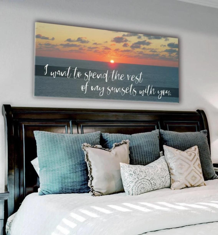 Bedroom Wall Art Sunrise Large Wall Art 2 Sizes Available Wood Frame Sense Of Art