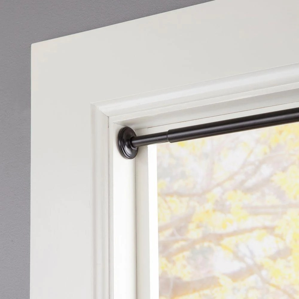 spring tension curtain rods