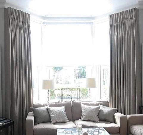 custom bow and bay window curtain rods