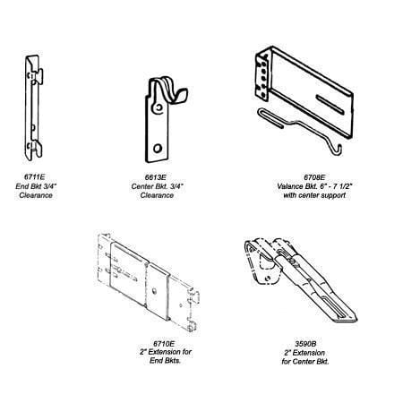 kirsch continental ii brackets and supports