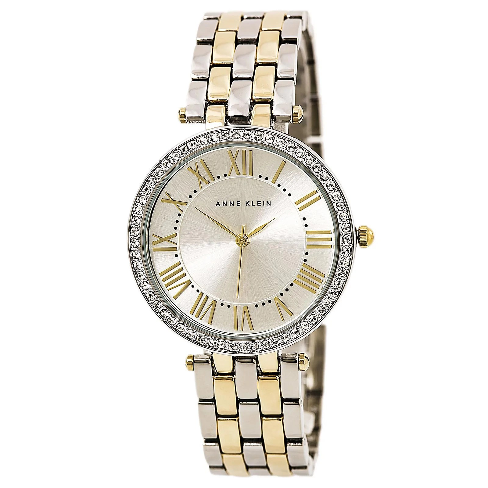 Anne Klein 2231SVTT Women's Silver Dial TT Steel Bracelet Watch