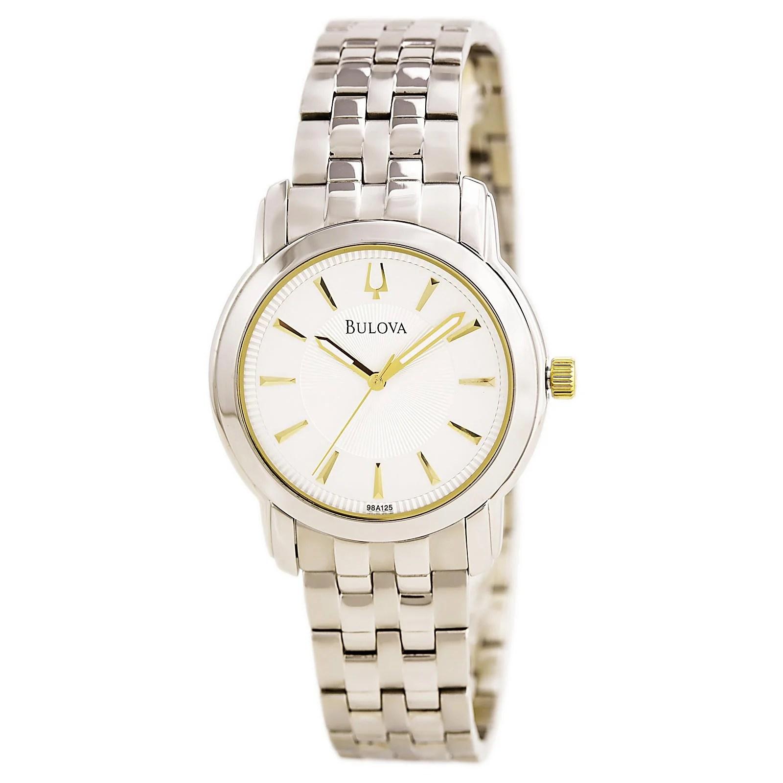 Bulova 98A125 Gent's Steel Bracelet Silver Dial Quartz Watch