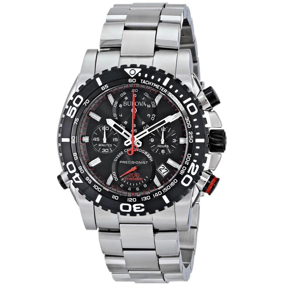 Bulova 98B212 Men's Precisionist Black Dial Chrono Dive Watch