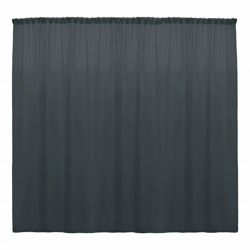 10 x 10 ft charcoal curtain polyester backdrop drapes panels with rod pocket