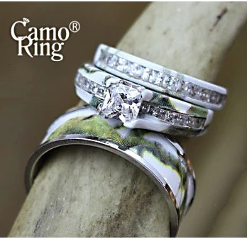 Camo His Amp Hers Wedding Ring Set