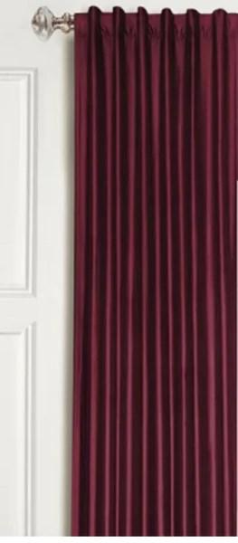 exclusive fabrics furnishing blackout faux silk taffeta curtain panel 120