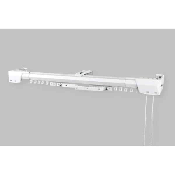 design white heavy duty traverse rod center support bracket 2075