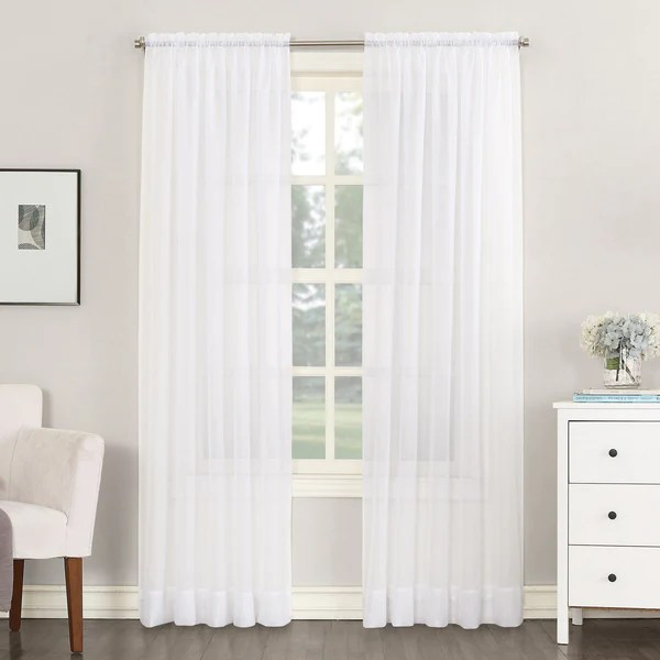 no 918 emily sheer voile single curtain panel 59